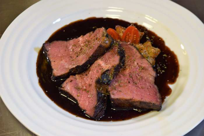 aged sous vide beef